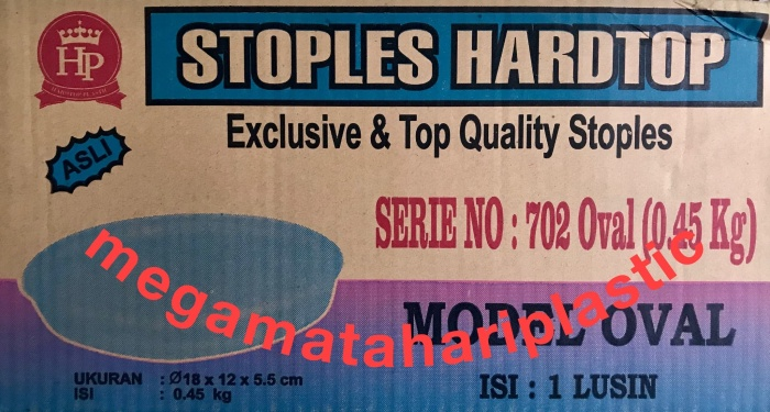 harga Toples kue oval 0.45 kg 702 hardtop Tokopedia.com