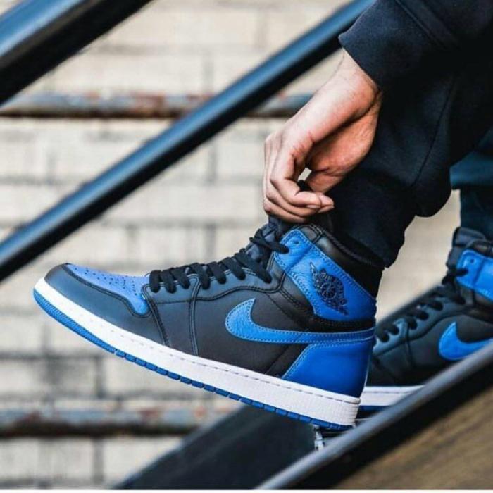 23ceefc01f318 Jual Nike Air Jordan 1 Royal Blue Premium / sepatu sneakers jordan murah -  DKI Jakarta - threestripes | Tokopedia