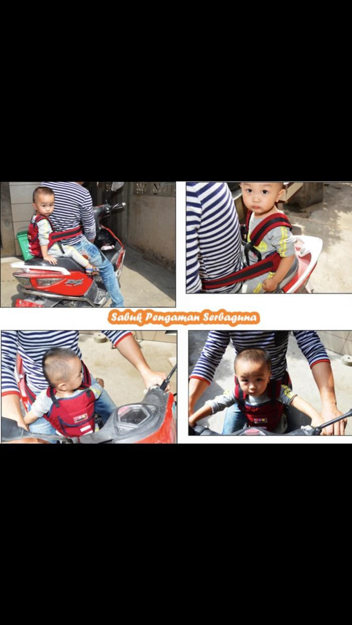 Sabuk pengaman serbaguna bisa dipakai saat dimobil atau motor