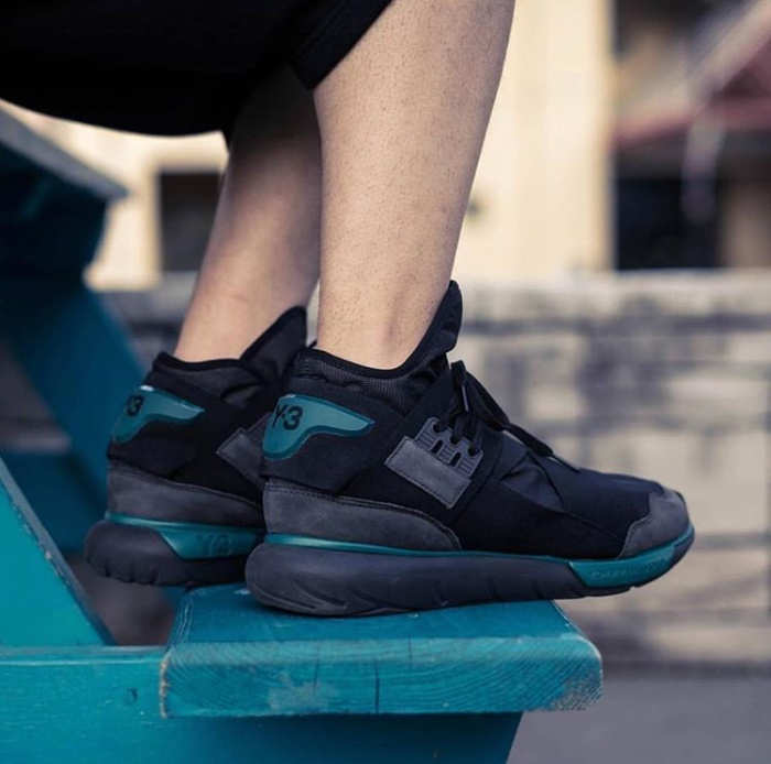 Adidas y3 qasa yamamoto black charcoal premium original / sneakers