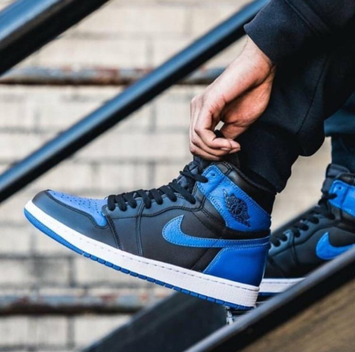 Nike air jordan 1 royal blue premium original / sepatu nike
