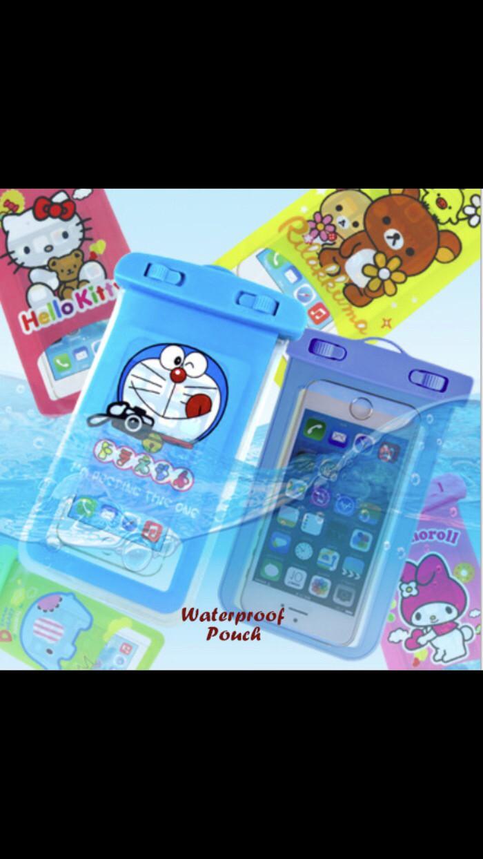 Waterproof pouch sarung hp anti air karakter handphone