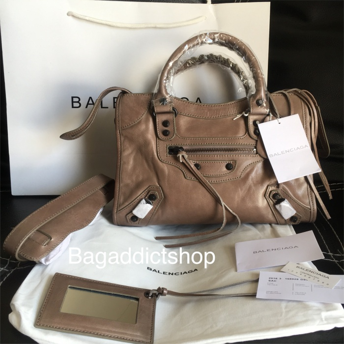 Jual BALENCIAGA small city Taupe cdded439d6