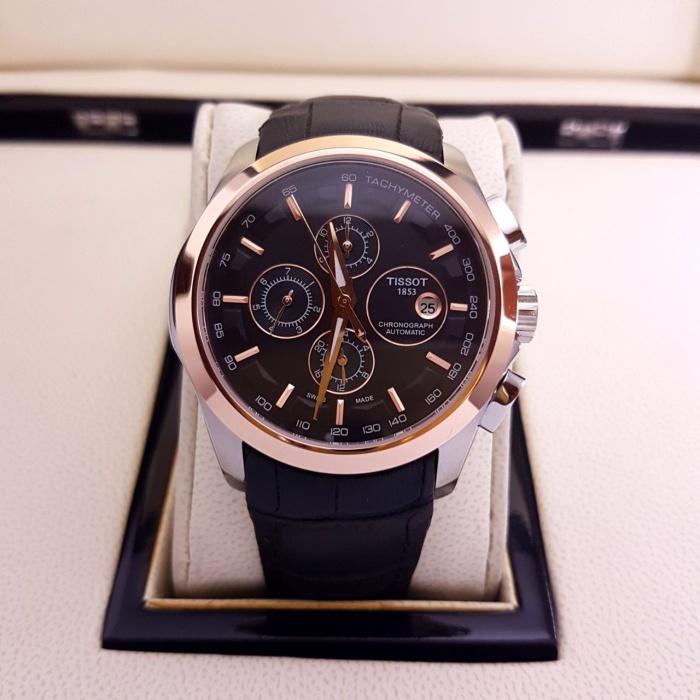 harga Jam tangan pria merk tissot prc type 1853 leather automatic Tokopedia.com