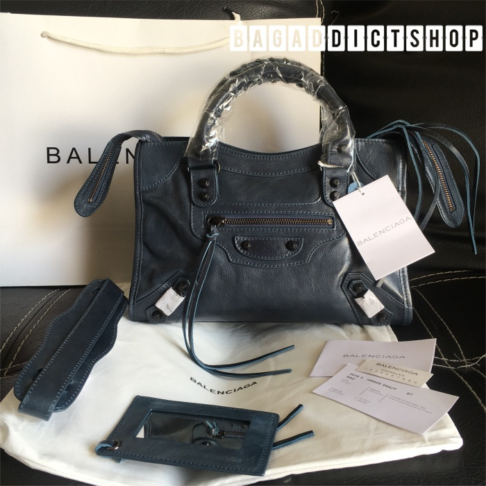 Jual Tas BALENCIAGA Small city in Bleu obscur Mirror 1 1 Ori leather ... 191834b5c6