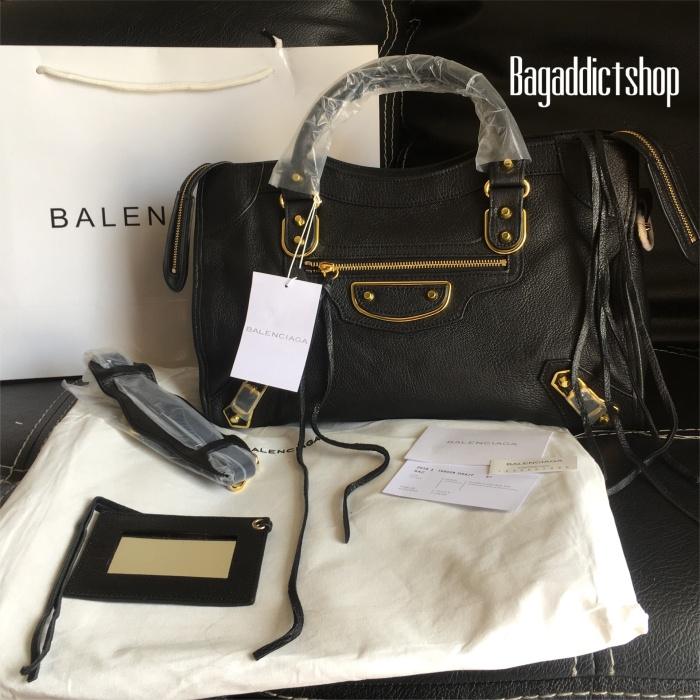 harga Tas balenciaga city s edge black noir mirror 1 1 ori leather vip  Tokopedia 5197cc0060