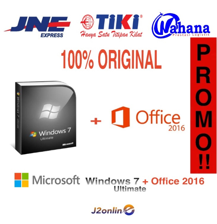 harga Lisensi paket windows 7 ultimate dan office 2016 - original Tokopedia.com
