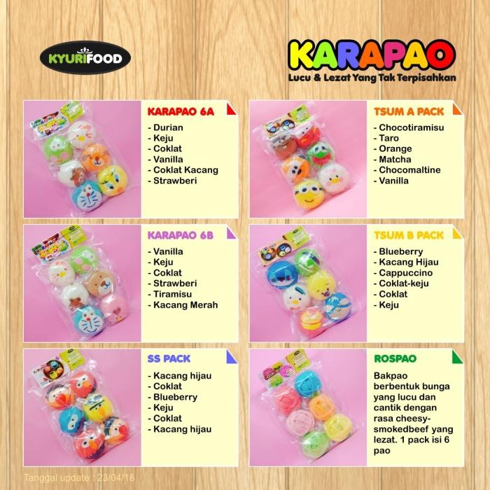 bakpao karakter -karapao isi 6 paket eco