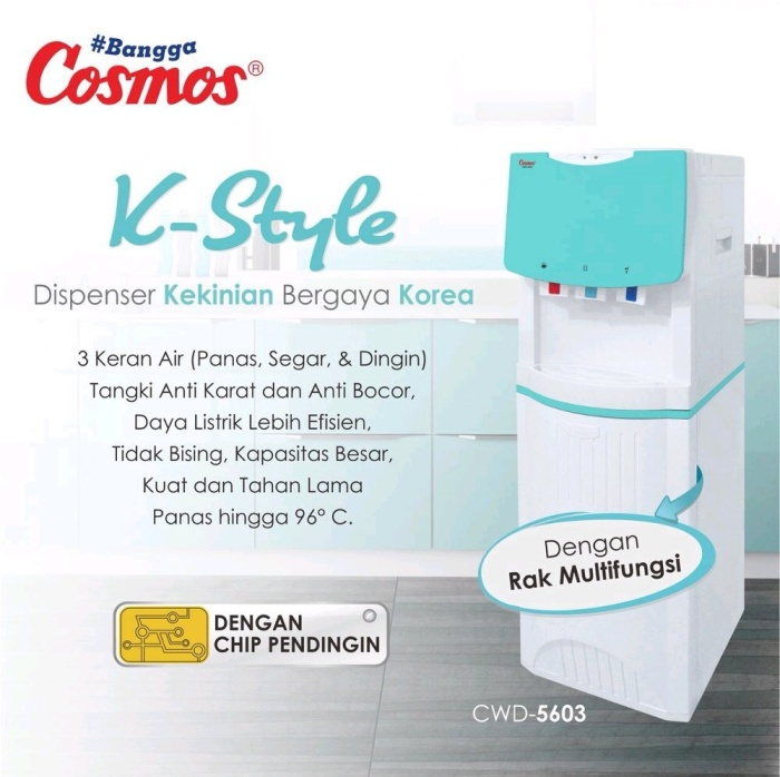 Cosmos dispenser hot cold normal 3 kran Kstyle Cwd 5603