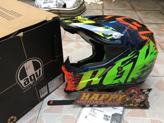Helm AGV Italy Carbon Ax8 NoHander size XL eurofit 3 colour Ringan 2