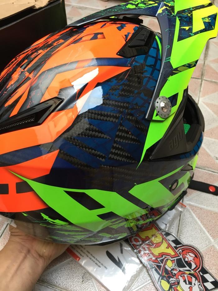 Helm AGV Italy Carbon Ax8 NoHander size XL eurofit 3 colour Ringan 4