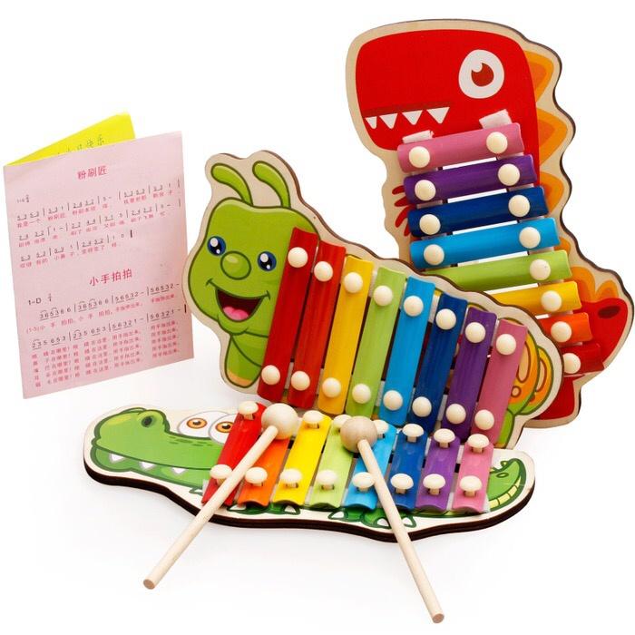 harga Mainan xylophone kayu dan buku lagu alat musik anak hewan Tokopedia.com
