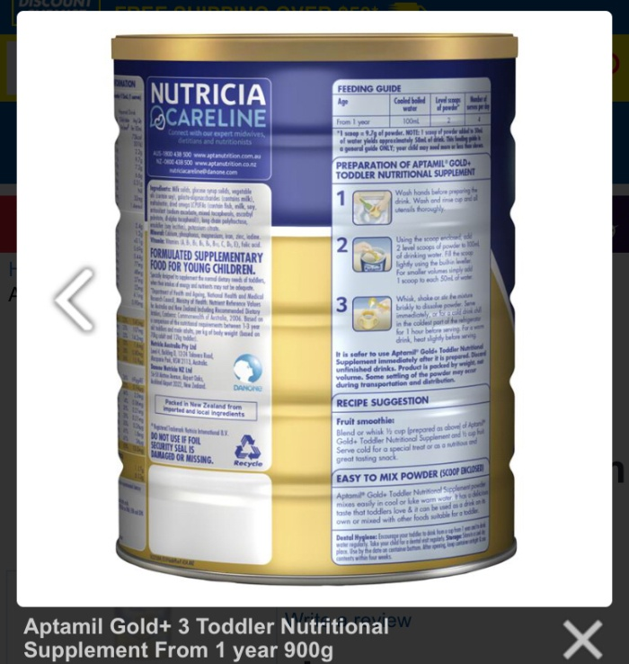 Jual Aptamil Gold+ 3 Toddler Nutritional Supplement From 1 year 900g - Kota  Depok - Oztore Collection | Tokopedia