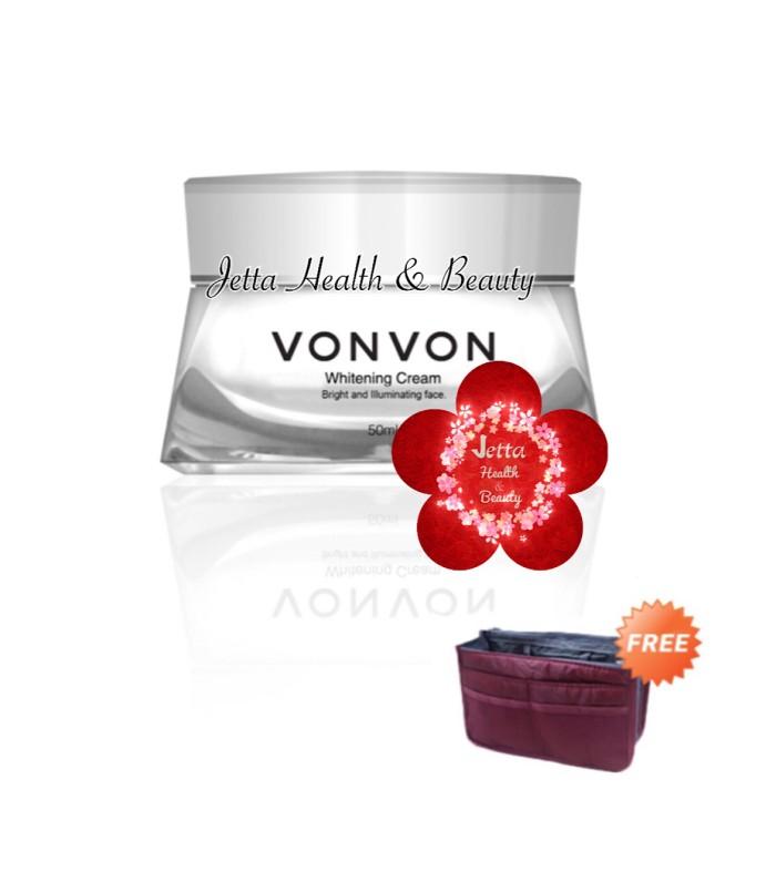 harga Vonvon whitening cream 50ml free travel pouch Tokopedia.com