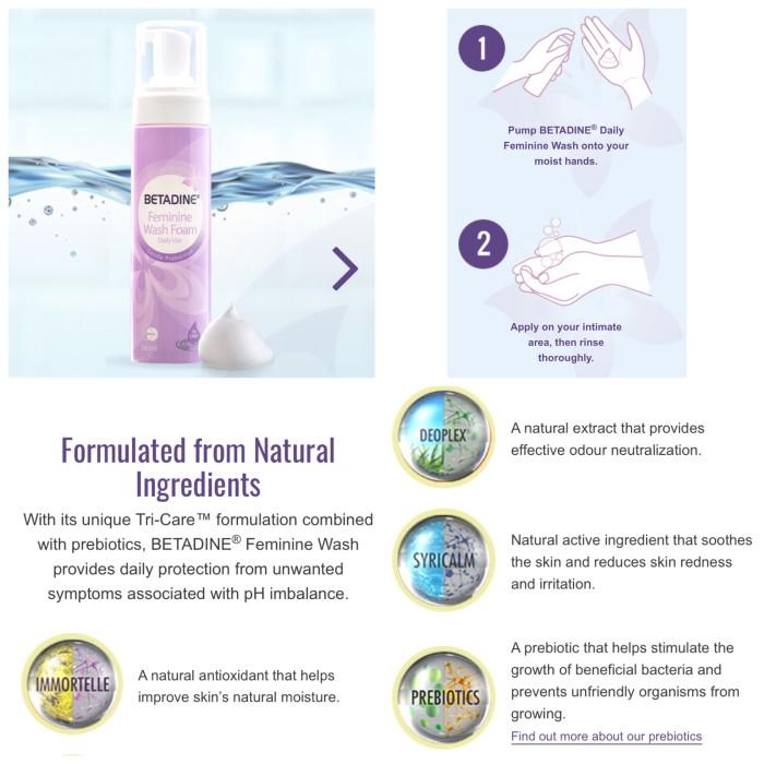 Jual BETADINE Feminine Wash Foam - lemari nissa | Tokopedia
