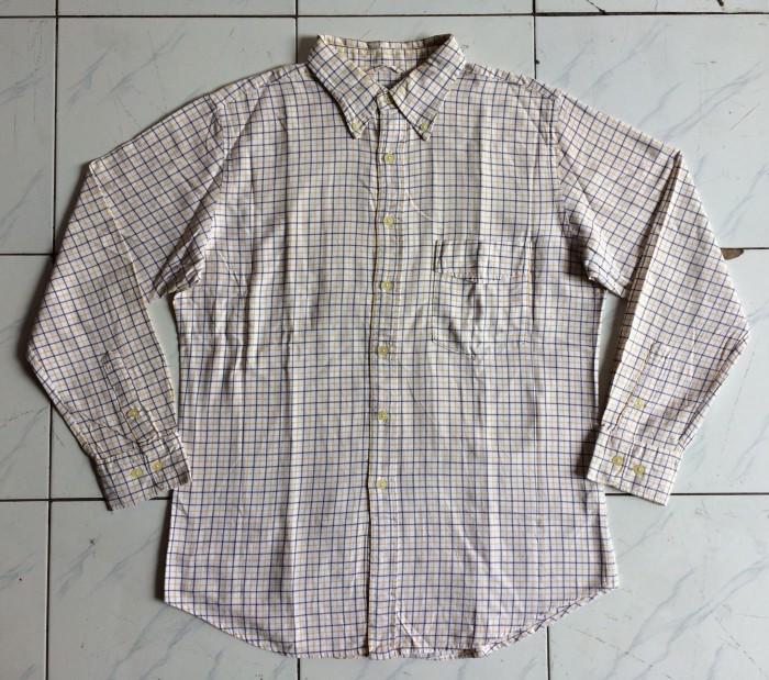 Kemeja Flanel Harvard Flannel Shirt Yellow Plaid Size XL