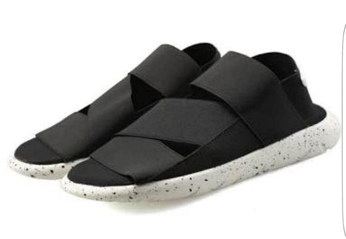 017145cf8ce3 Adidas Y-3 Qasa Sandal Black White Premium Original   Sendal Sepatu Y3