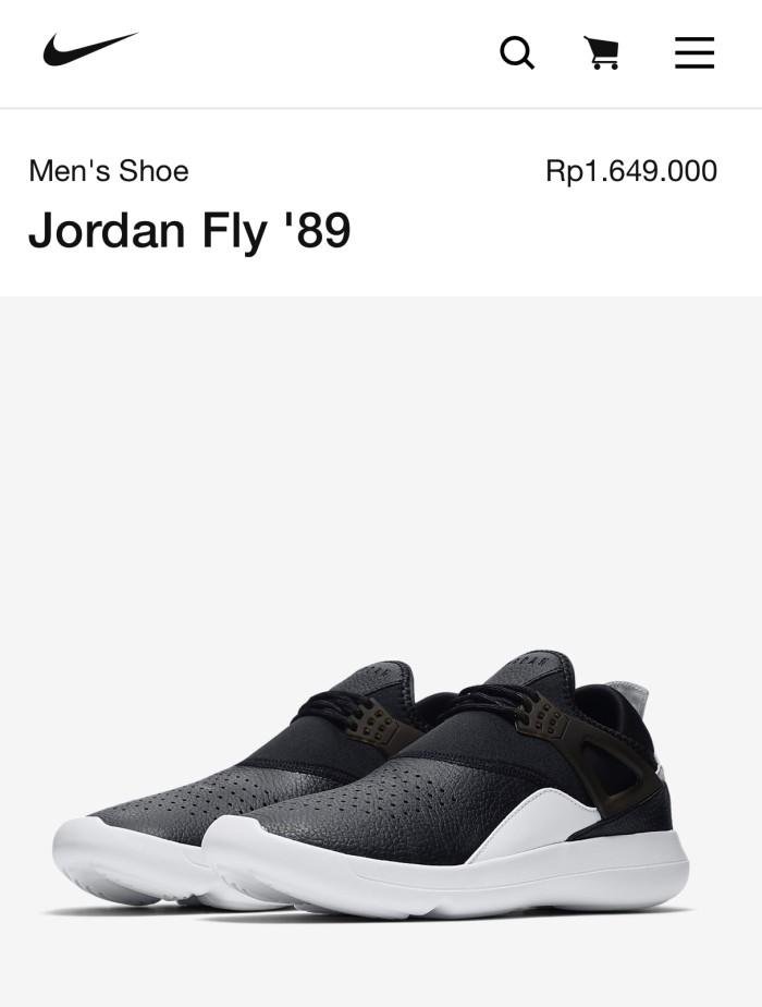 e62ad7b01e033 Jual Nike air jordan fly 89 black   white - Kota Tangerang Selatan ...