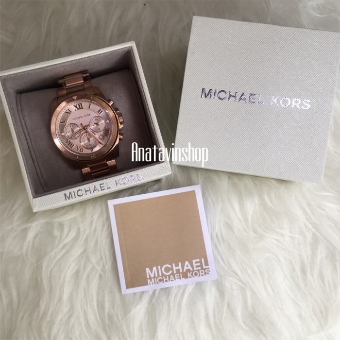 0273d1518c94 Jual Authentic NWT Michael Kors Brecken Rosegold Stainless Watch ...