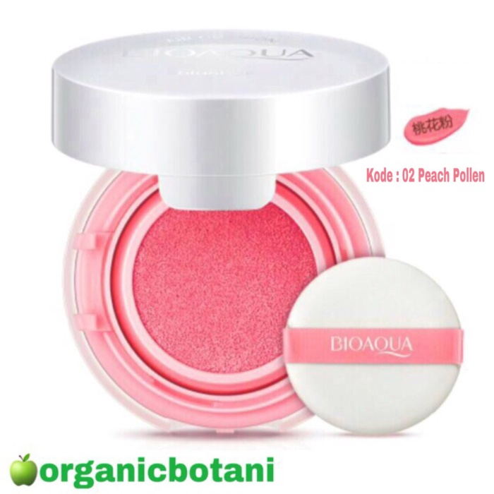 BIOAQUA BLUSH ON CUSHION. SMOOTH FLAWLESS MUSCLE.