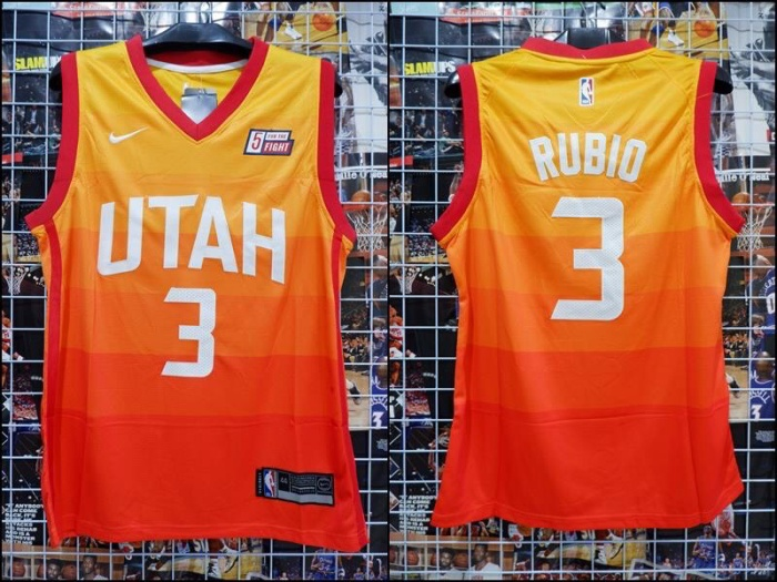 online retailer 03a5a 8c8ba Jual Jersey Basket Swingman Utah Jazz Ricky Rubio City Edition Orange Oren  - Kota Batam - RR7 Shop | Tokopedia