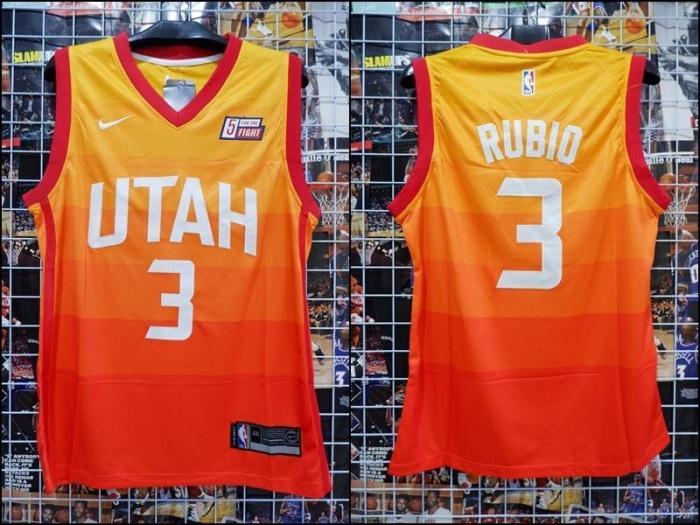 ad3de8715 ... new zealand jersey basket swingman utah jazz ricky rubio city edition  orange oren c0c67 93319