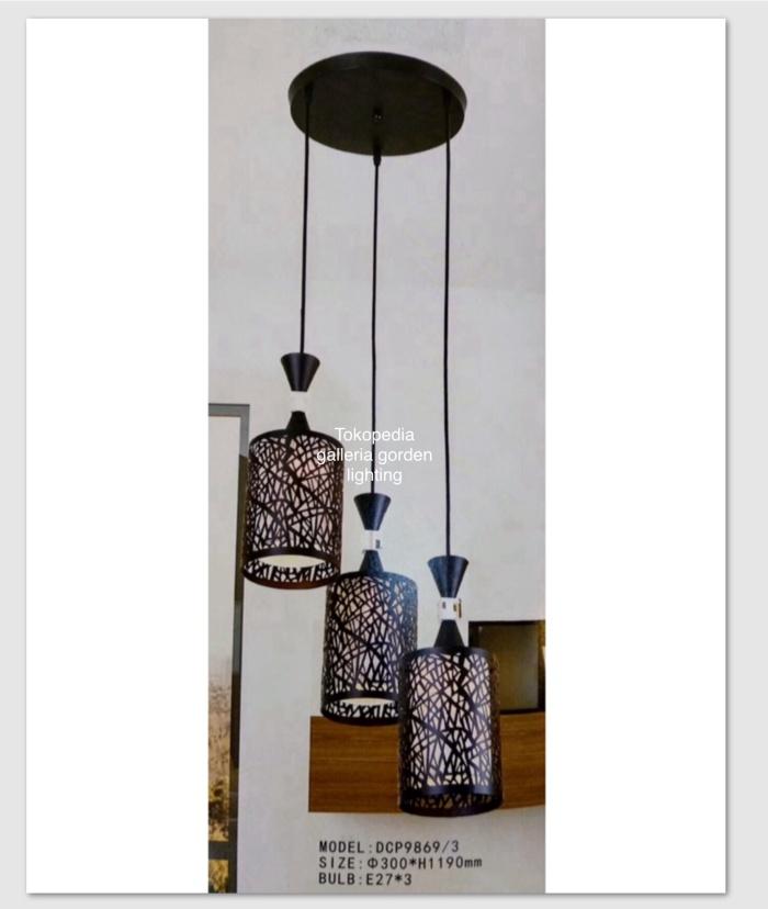 Jual Lampu Hias Gantung Minimalis Dekorasi Ruang Tamu Meja Makan 9869 3 Dki Jakarta Galleria Gorden Lighting Tokopedia