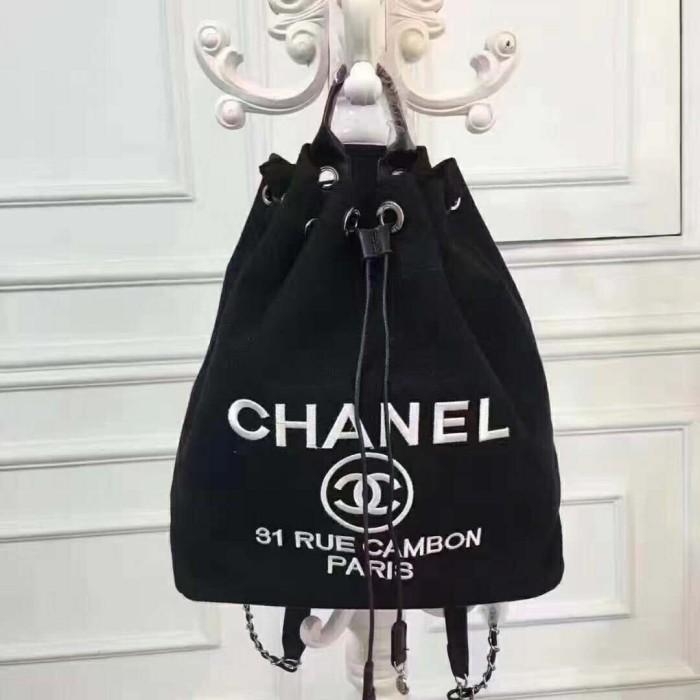6d5a2af3160099 Jual Chanel VIP gift backpack Rue cambon Black Color - Kota Bandung ...