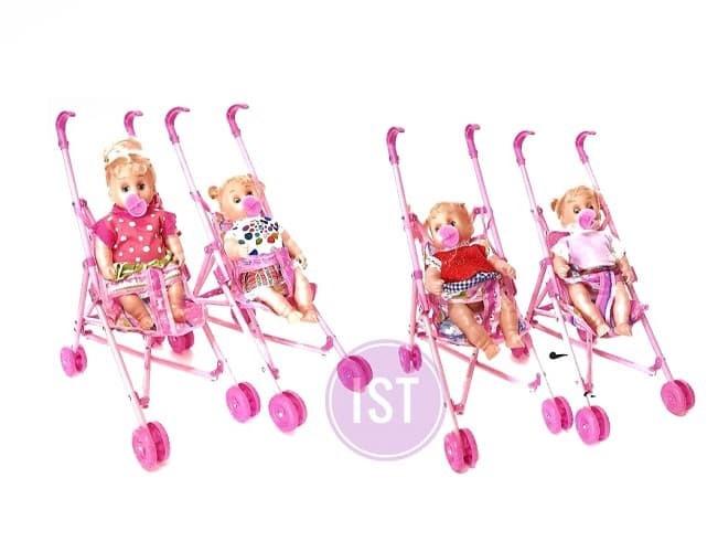 harga Boneka barbie bayi + dot + stroller bisa nangis mainan bayi anak cewek Tokopedia.com