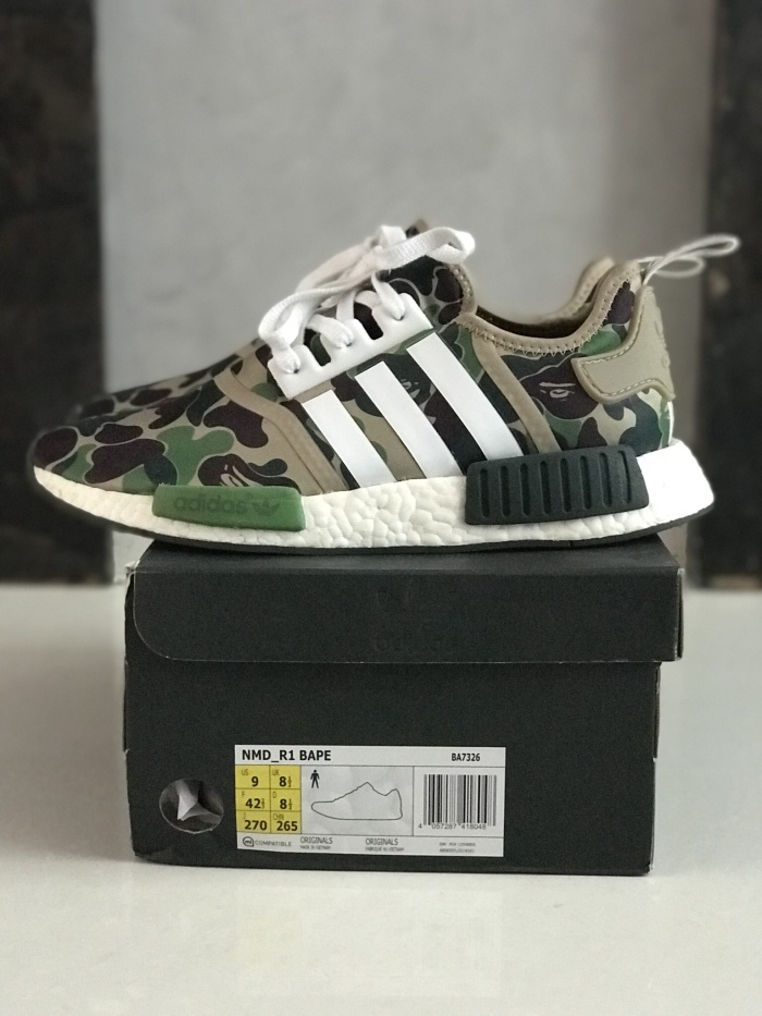 0a2e71944 Jual Adidas NMD R1 x Bathing Ape BAPE VNDS size 9 US 100% Authentic ...