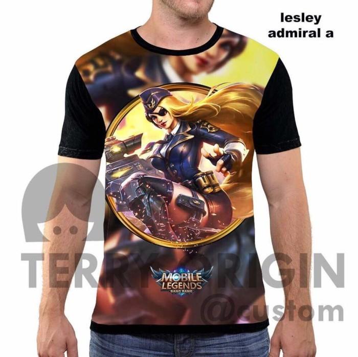 harga Lesley admiral a kaos game mobile legend 3d  fullprint Tokopedia.com