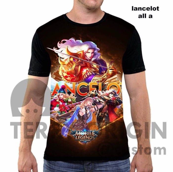 harga Lancelot all a kaos game mobile legend 3d fullprint Tokopedia.com