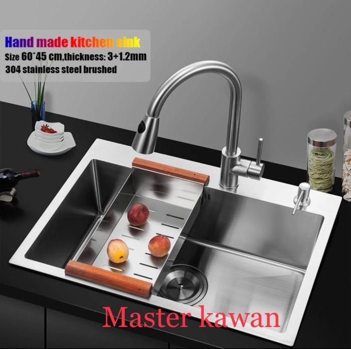 Foto Produk Kitchen Sink Kotak Minimalis 60 Cm /Bak Cuci Piring Model Bolzano 6045 dari Master kawan