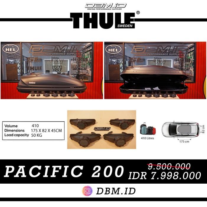 harga Roof box thule pacific 200 matt black hitam bagasi atas mobil Tokopedia.com
