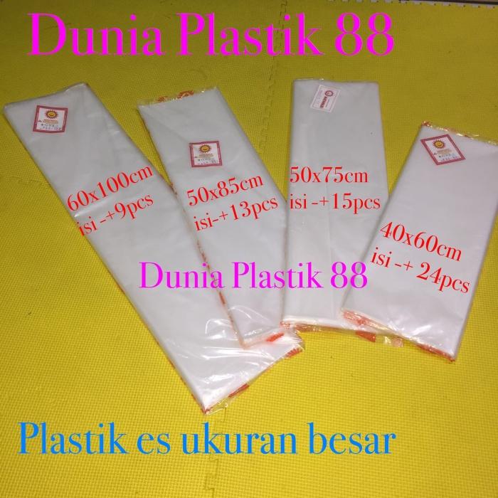 Foto Produk Kantong PLASTIK ES PE BESAR jumbo sayur pasar bening buram lentur dari Dunia Plastik 88