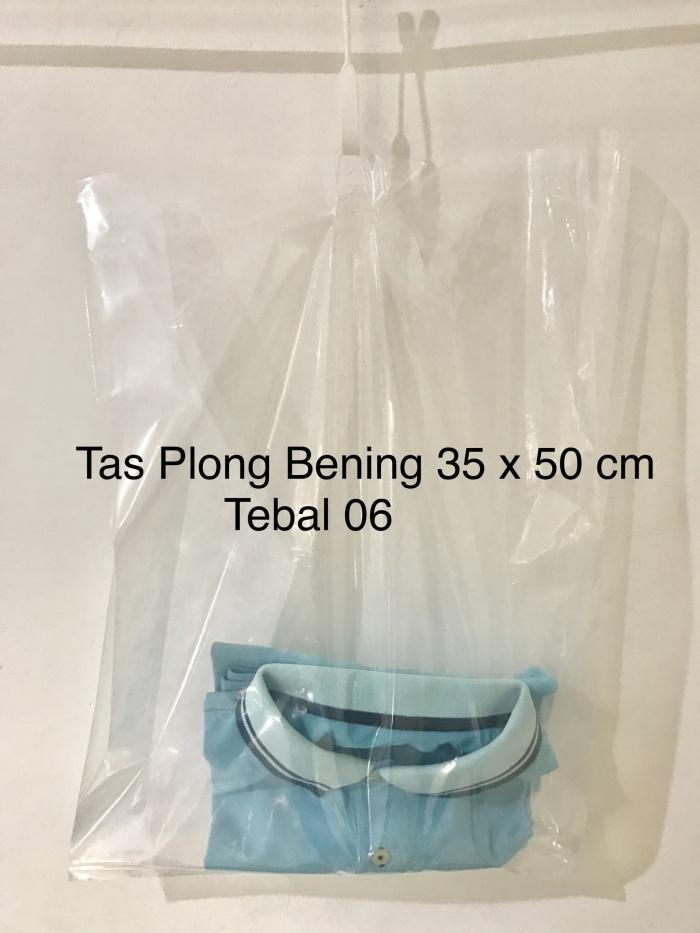 harga Tas kantong plastik pe plong bening transparan lipatan samping 35x50 Tokopedia.com