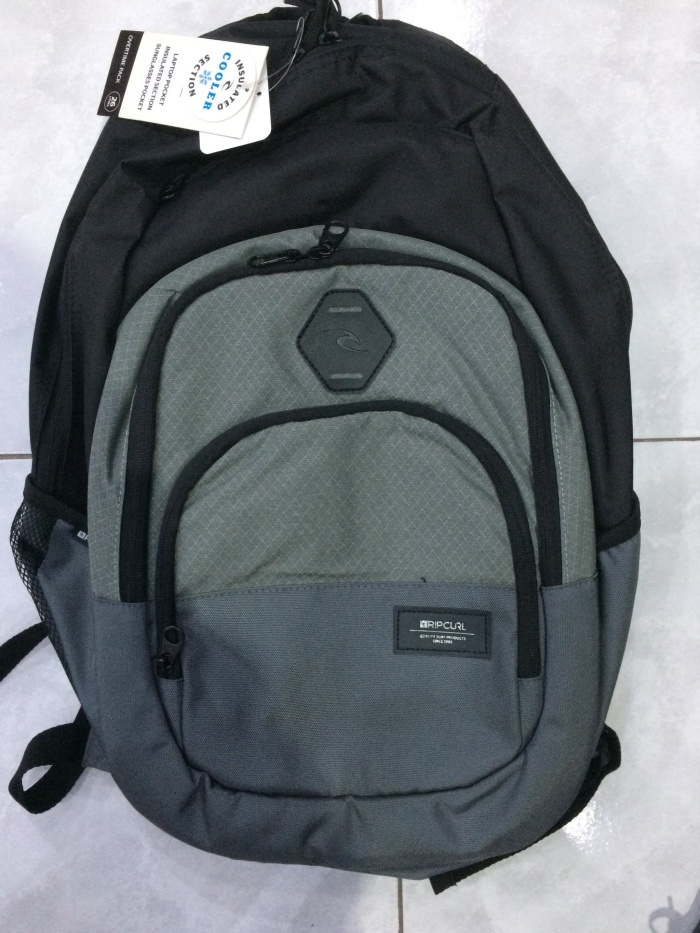 Jual Tas backpack ripcurl original overtime gy - Surf   Skate Bali ... a94dddbe01