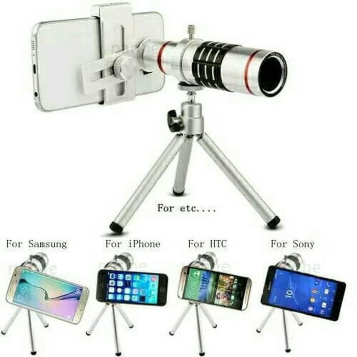 harga Lensa kamera handphone hp 12 x zoom portable mobile phone tele lens Tokopedia.com