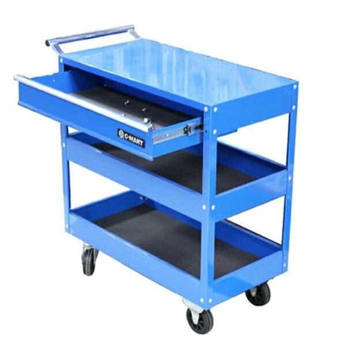 harga C-mart rak perkakas 3 tingkat - three layer tool trolley with drawer Tokopedia.com