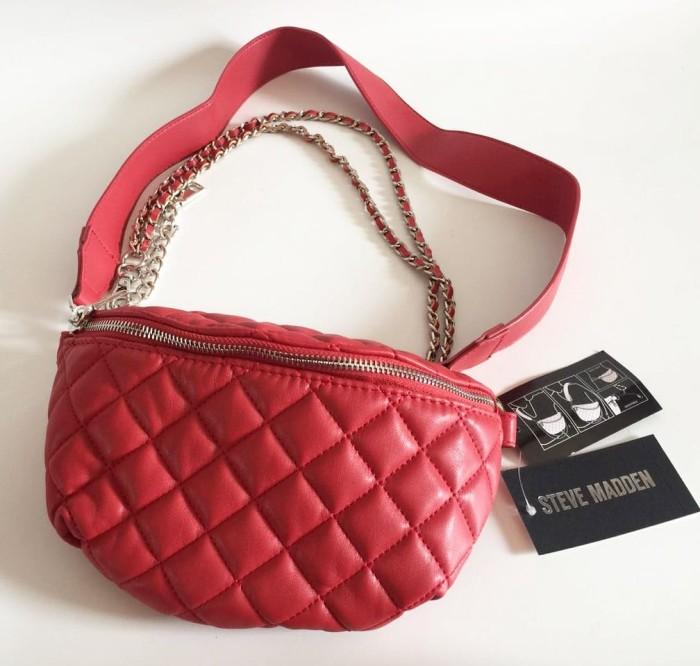 harga Tas steve madden quilted chain bmandie red original belt bag Tokopedia.com