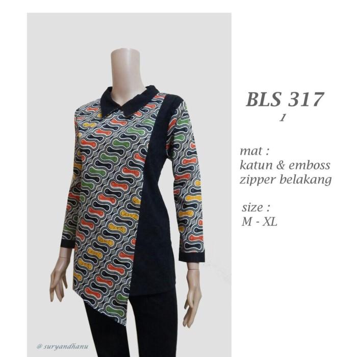 harga Blus batik cewek cantik kantoran / bls 317 / atasan batik kerja wanita Tokopedia.com