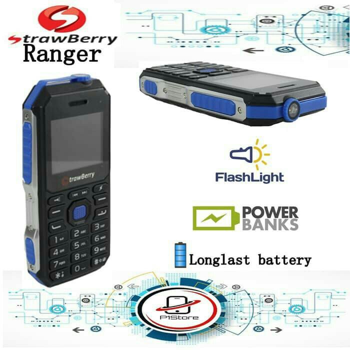 harga Strawberry st368 ranger dual sim/powerbank function Tokopedia.com