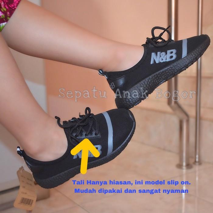 harga Sepatu sekolah anak hitam nb tk/sd tali nb0101 Tokopedia.com