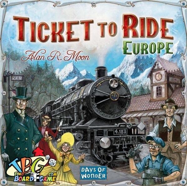 Foto Produk Ticket to Ride Europe + Card Protector Sleeve King dari Toko Board Game