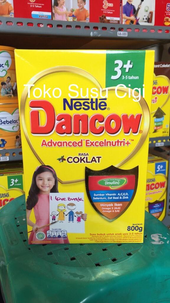 Foto Produk Dancow 3+ Coklat 800g dari Toko Susu Cigi