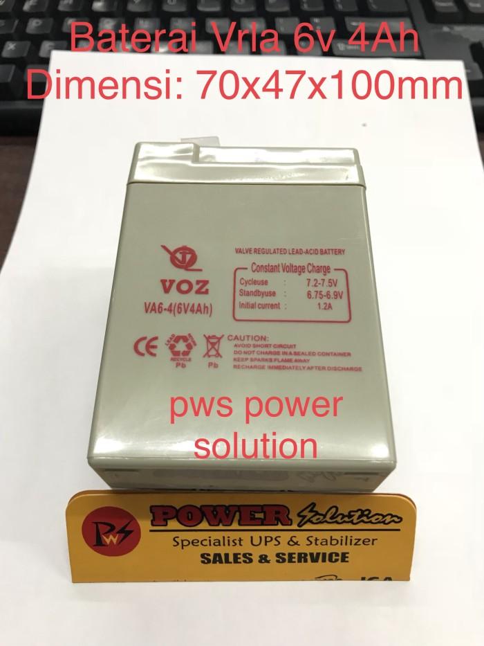 harga Battery kering voz 6v 4ah baterai lampu emergency dan mobil mainan Tokopedia.com