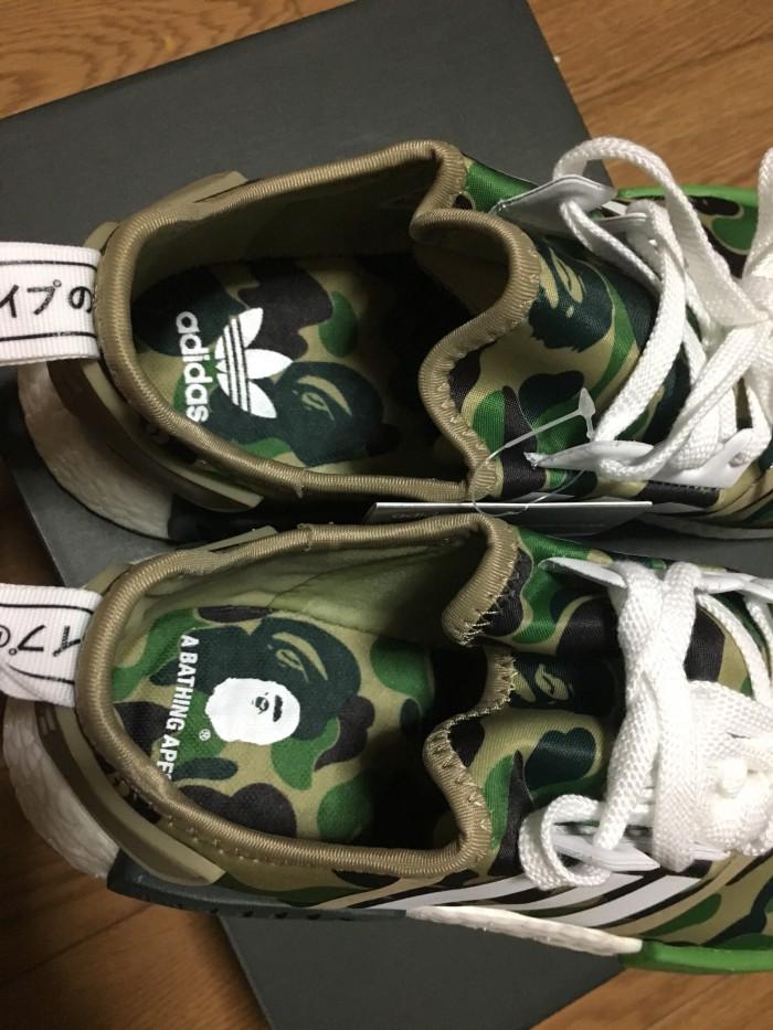e5a058c2402e6 Jual READY STOCK!! A Bathing Ape x Adidas NMD R1 Green Camo US 8.5 ...