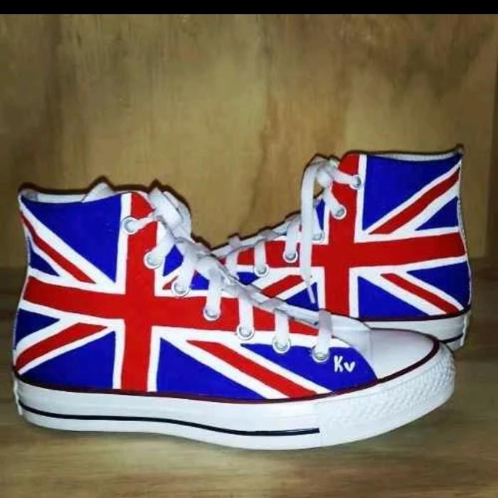 314e0fa9d3a Jual Sepatu converse allatar high motif bendera england - Kab. Boyolali -  osckarstore | Tokopedia