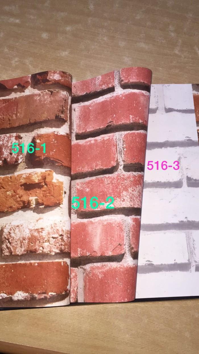 Jual Wallpaper Dinding Batu Bata Alam 3D Coklat Putih Texture Kota Bekasi Wallpaper Pusat