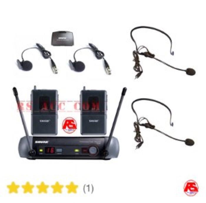 harga Murah !!! mic wireless shure pgx 242 clip on + headset professional Tokopedia.com